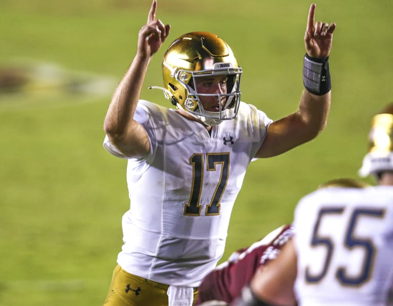 With Jack Coan at quarterback, Notre Dame Fighting Irish football vertical  passing game looks like a strength