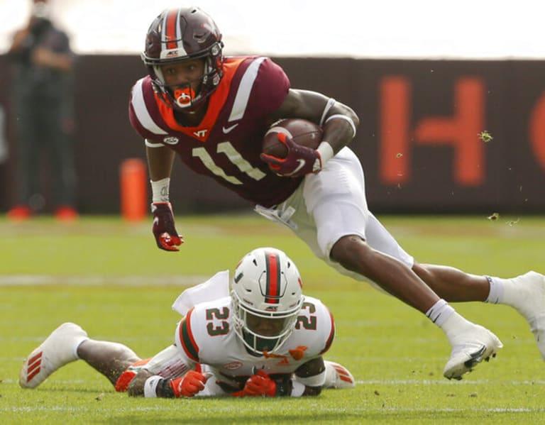 Virginia Tech Loses To No 9 Miami 25 24