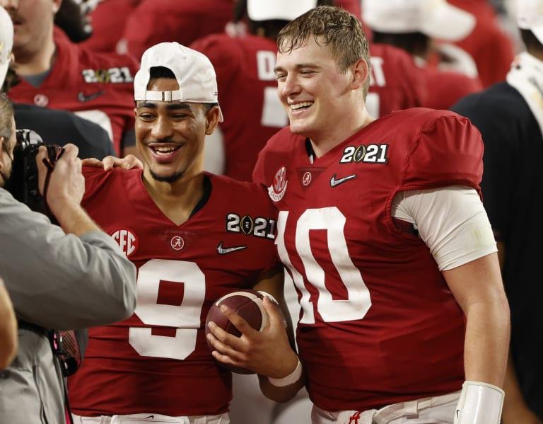 BamaInsider - A look at Alabama's quarterback room after Mac Jones declares for NFL draft