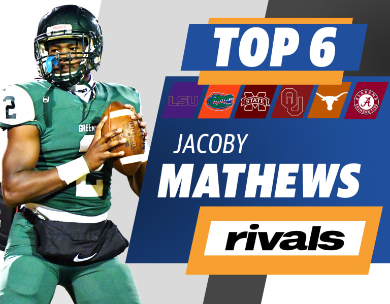 Rivals.com  –  The nation's top safety, Jacoby Mathews, is down to six teams