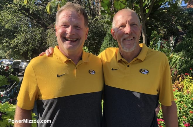 Alan Marrs (left) and Buck Brooks will ride their bikes to Missouri games at Vanderbilt, Kentucky and Georgia in the next month.