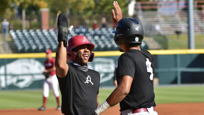 The Black team scored 15 runs in seven innings Friday afternoon.
