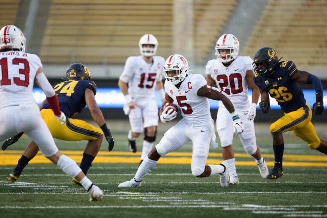 Connor Wedington announced Tuesday night that he will not stay at Stanford for a fifth year and will enter the NFL Draft.