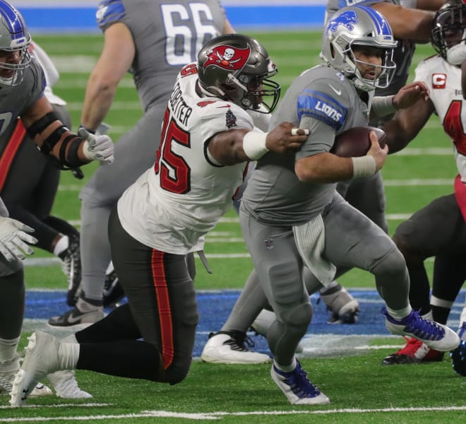 Former Arkansas defensive lineman Jeremiah Ledbetter now plays for the Tampa Bay Buccaneers.