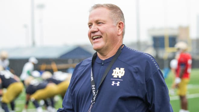 Brian Kelly and his staff this week have four players in isolation for testing positive for COVID-19, and six others in quarantine.