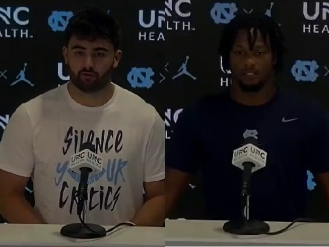 UNC QB Sam Howell and RB Ty Chandler met with the media Tuesday evening to field a variety of questions.