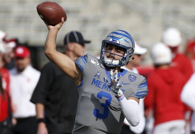 Memphis quarterback Brady White (Tim Warner/Getty Images)