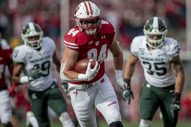 Jake Ferguson turned down a shot at the NFL and is back at Wisconsin as one of the nation's top tight ends.