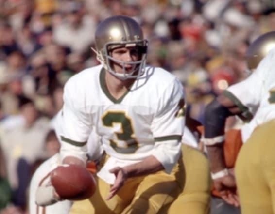 Former Notre Dame quarterback Joe Montana