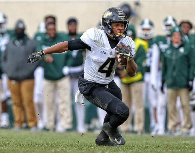 Rondale Moore has been inactive from practice with a lower body injury but Purdue coach expects the freshman receiver to play.