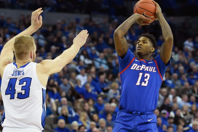 Darious Hall played significant minutes for DePaul last season.