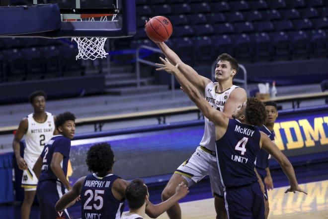 Notre Dame Fighting Irish men's basketball junior forward Nate Laszewski