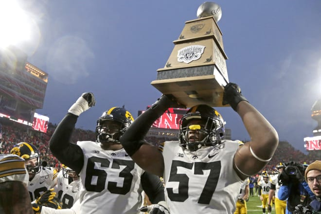 Look for the Heroes Trophy game to stay on Black Friday this year in Iowa City.