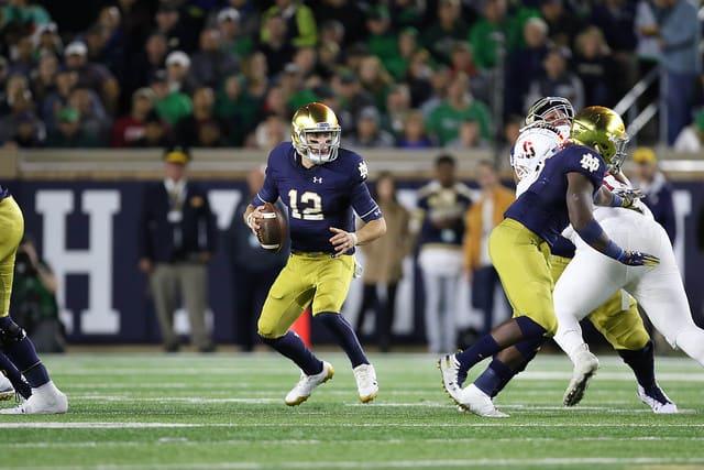 Notre Dame Fighting Irish football quarterback Ian Book