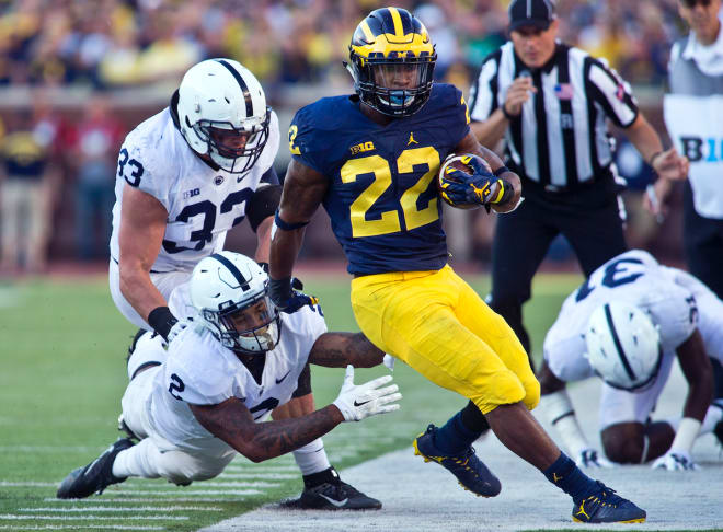 Running back Karan Higdon rushed for nearly 1,000 yards a year ago for Michigan.