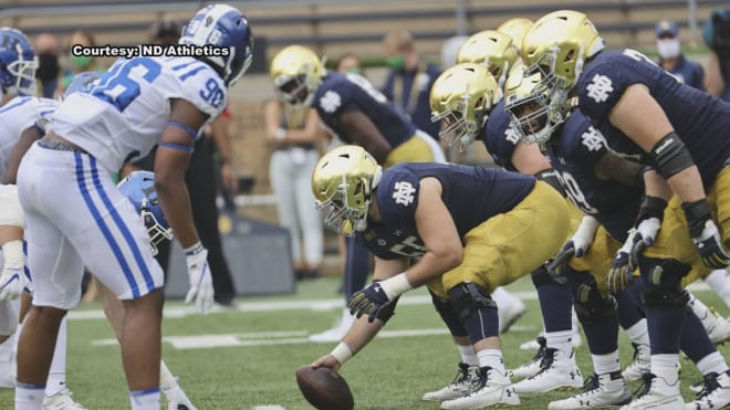 Notre Dame Fighting Irish football offensive line