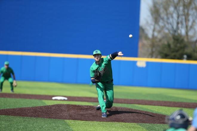 Notre Dame left-handed pitcher John Michael Bertrand
