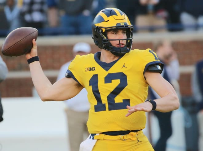 Michigan Wolverines football quarterback Cade McNamara is the leader to start this fall ... for now.