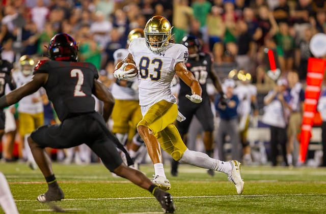 Canada receiver Chase Claypool became Notre Dame's 2019 MVP and a second-round pick.