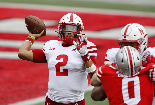 Nebraska's quarterbacks had two costly fumbles vs. Ohio State on Saturday.