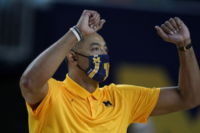Michigan Wolverines basketball coach Juwan Howard has his team in first place in the Big Ten at the halfway point.