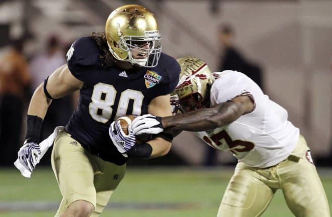 Former Notre Dame tight end Tyler Eifert