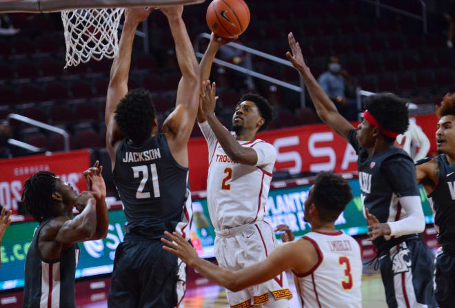 Tahj Eaddy scored a season-high 21 points in USC's 85-77 win over Washington State on Saturday.