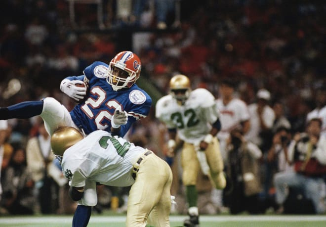 Notre Dame and Florida have played once before, an Irish win in the 1992 Sugar Bowl.