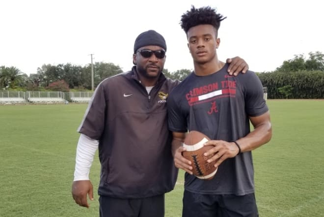 Patrick Surtain Sr. and his son Patrick Surtain II. Photo | Submitted photo