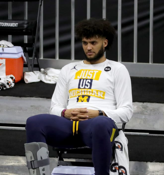 Michigan Wolverines basketball senior forward Isaiah Livers missed U-M's final five games of the season.