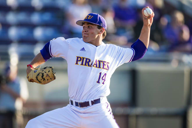 ECU pitcher Jake Agnos takes home the AAC pitcher of the week award.