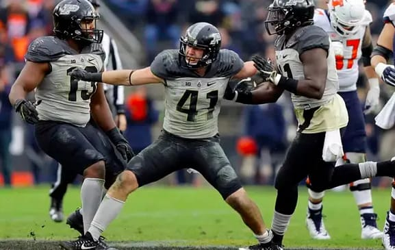 Jake Thieneman went from walk-on to captain while at Purdue, where he earned a degree in mechanical engineering.