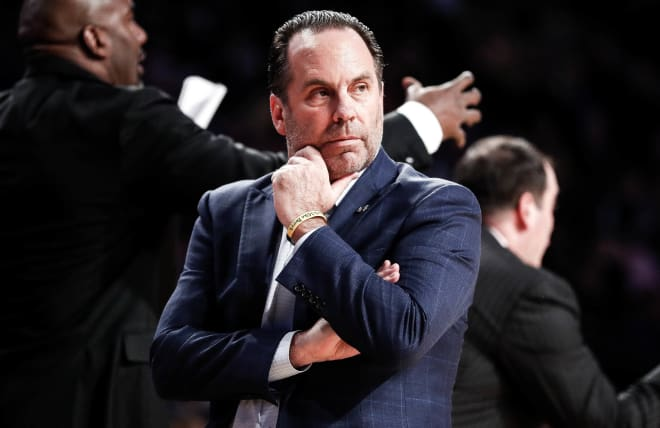 Notre Dame Fighting Irish men's basketball head coach Mike Brey