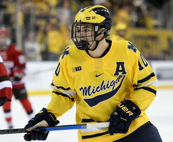 Junior forward Will Lockwood scored in both of U-M's games against No. 15 Penn State.