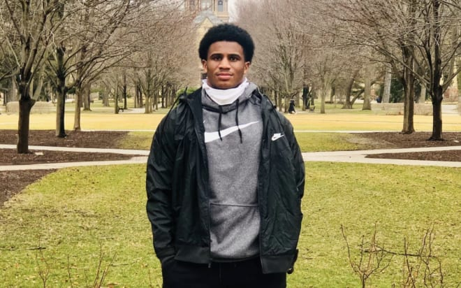 The four-star playmaker got his first look at Notre Dame on Thursday.