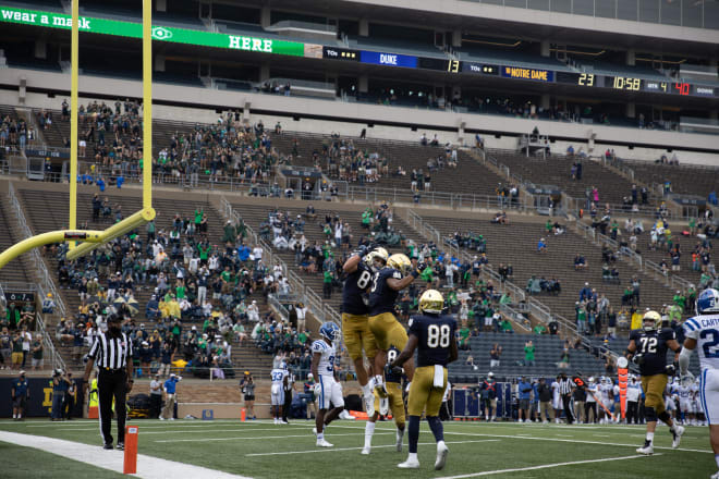 Notre Dame is 5-0 and is ranked 4th in the AP Top 25.
