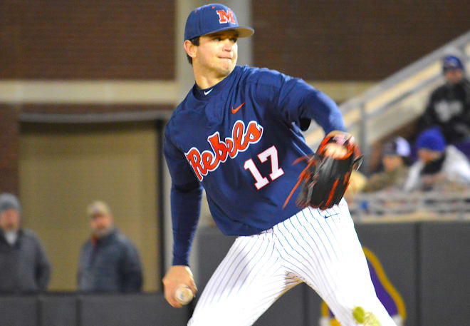 Gunner Hogland and (13)Ole Miss picked up a 2-1 win over (17)East Carolina Saturday in the Keith LeClair Classic.