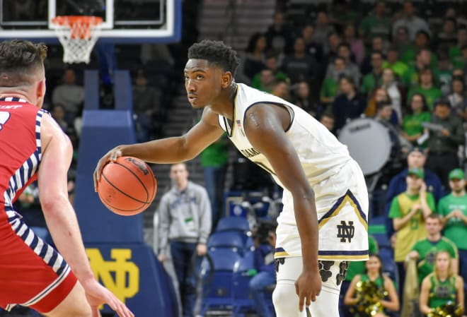 Junior guard T.J. Gibbs and the Irish will look to build on their 88-80 victory versus Purdue Dec. 15 in Indianapolis.