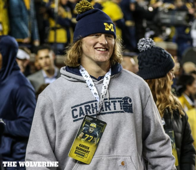 Four-star offensive tackle Karsen Barnhart has a tremendous upside because of his length and athleticism.