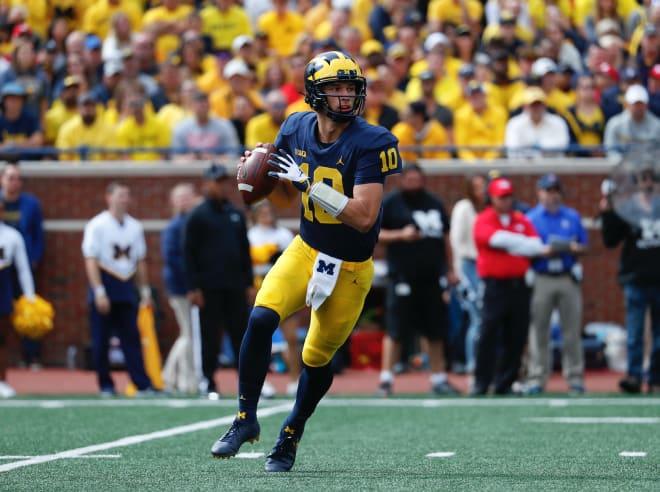 Former Michigan Wolverines football quarterback Dylan McCaffrey played in 13 games at U-M.