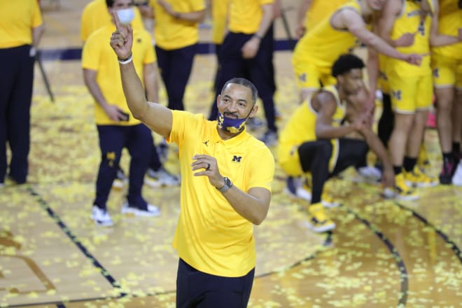 Michigan Wolverines head basketball coach Juwan Howard led his team to a Big Ten title and Elite Eight appearance in his second season on the job.