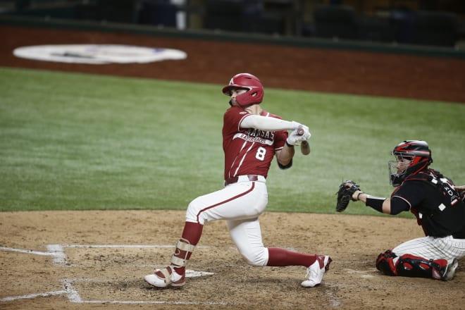 Braydon Webb drove in two runs in the ninth inning Saturday night.
