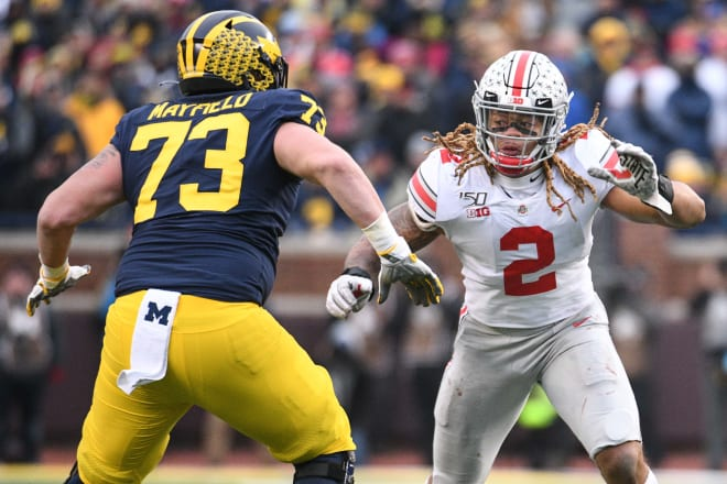 Michigan Wolverines football redshirt sophomore tackle Jalen Mayfield started all 13 games in 2019.
