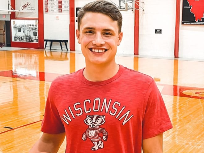 Justin Taphorn announced his commitment to Wisconsin on Friday evening.