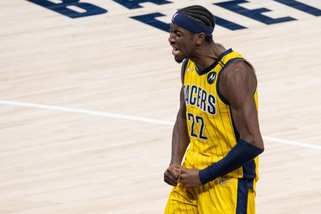 Former Michigan Wolverines basketball guard Caris LeVert led his team to the final spot in the play-in tournament.