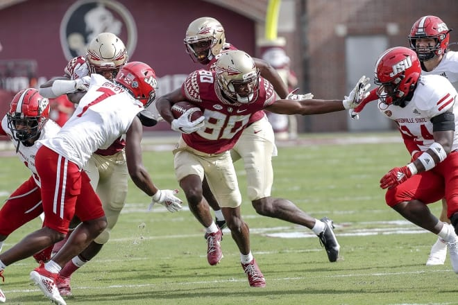 Ontaria Wilson led FSU with seven receptions for 86 yards Saturday.