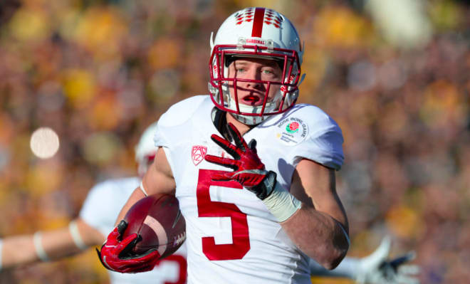 Christian McCaffrey has rushed 99 times for 520 yards and three touchdowns while catching 18 passes for 154 yards and another score this year.