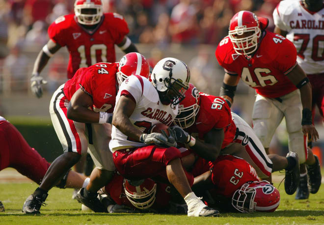 Entering this season, Georgia's top mark for Red Zone Efficiency-Defense resulted in 2003 when the Bulldogs allowed its opponents to average just 2.90 points per red-zone possession. (Getty Images)