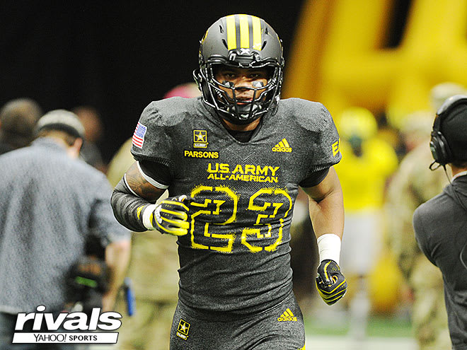 Parsons took the field this month as a Army All-American before his arrival at Penn State.