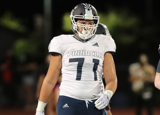 Pinnacle High School offensive lineman garnering early recruiting attention from Pac-12 South programs